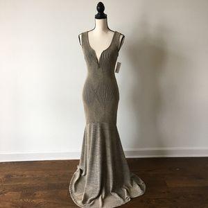FORMAL SEQUIN HALTER DRESS